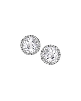 Kiki McDonough Grace White Topaz & Diamond Stud Earrings