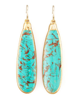 Devon Leigh Turquoise Teardrop Earrings