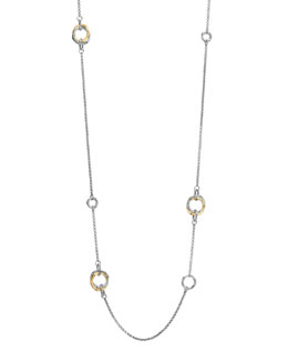 John Hardy Bamboo Gold & Silver Station Necklace