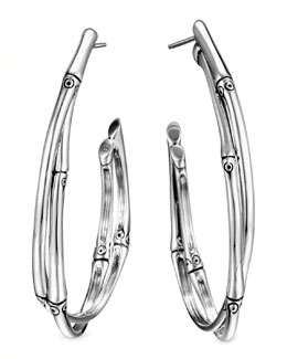 John Hardy Bamboo Large Twist Hoop Earrings