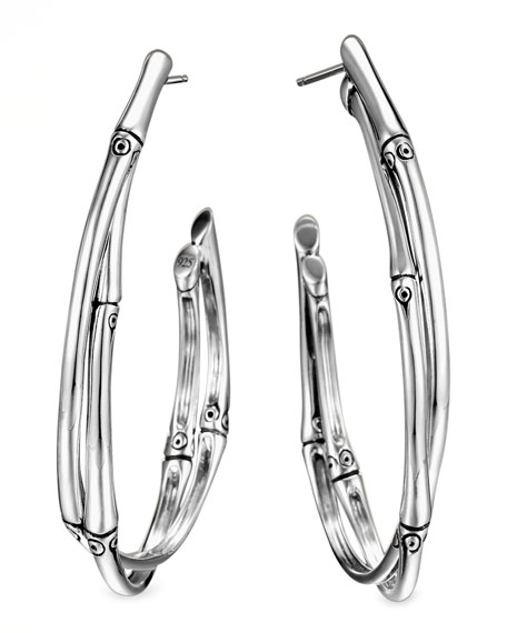 Bamboo Large Twist Hoop Earrings