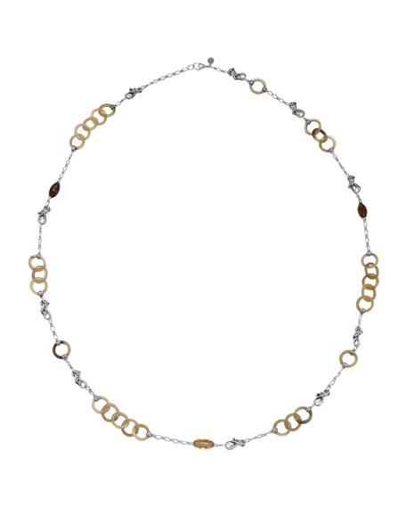 Naga Horn & Silver Sautoir Necklace