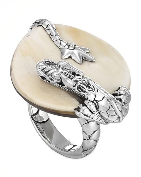 Naga Silver Buffalo Horn Ring