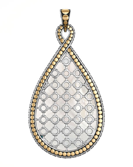 Dot Morocco Gold & Silver Large Enhancer, Mother-of-Pearl