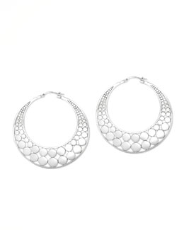 John Hardy Dot Slice Hoop Earrings