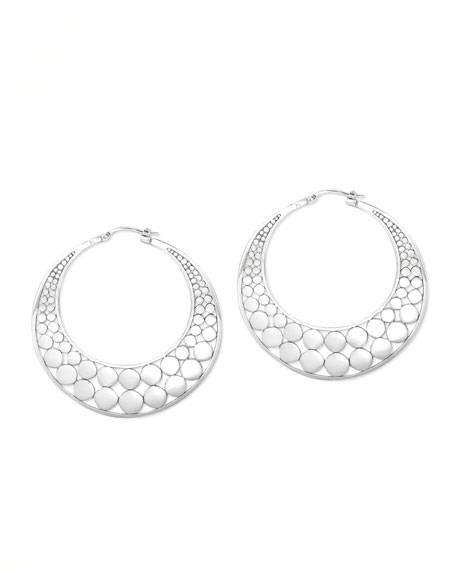 Dot Slice Hoop Earrings