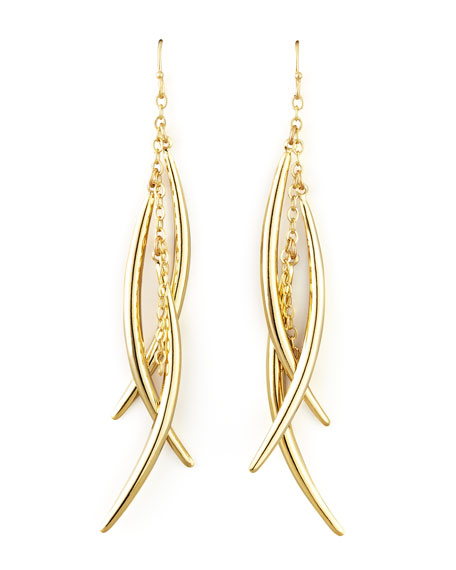 Tiered-Bar Linear Drop Earrings