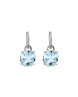 Kiki McDonough Eternal 18k White Gold Topaz Diamond Earrings