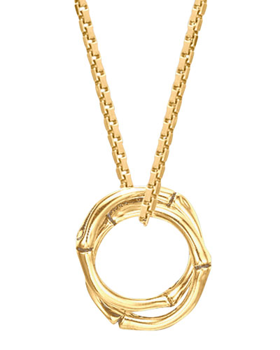 John Hardy 18k Gold Bamboo Link-Pendant Necklace