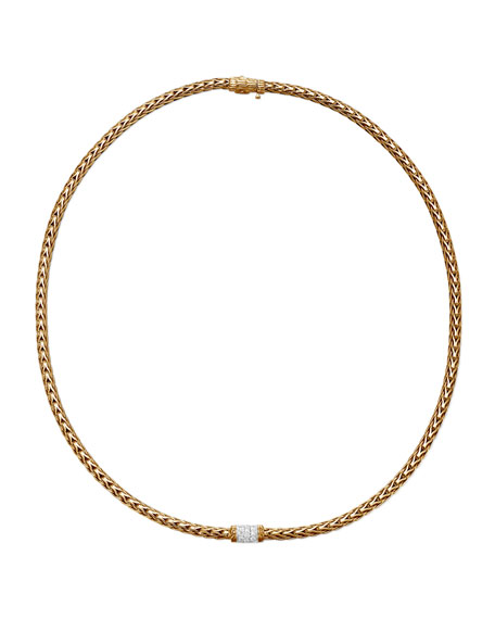 Classic Chain 18k Gold Diamond Necklace