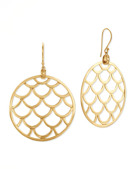 Naga 18k Gold Wired Drop Earrings