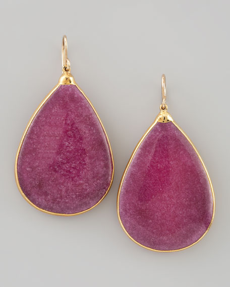 Ruby Quartz Teardrop Earrings