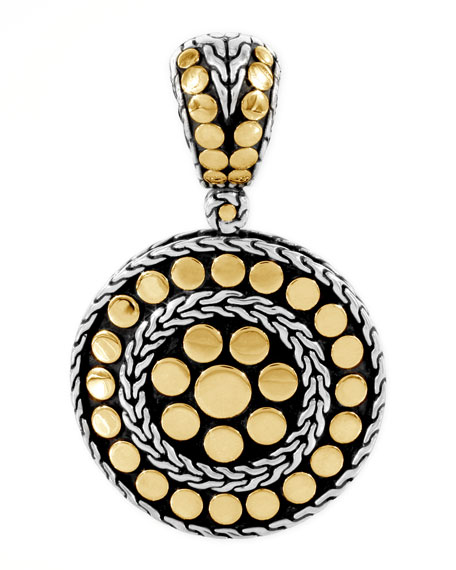 Dot Gold & Silver Small Round Pendant