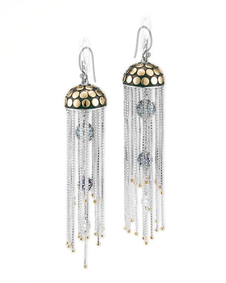 Batu Dot Gold & Silver Multi-Stone Jellyfish Earrings