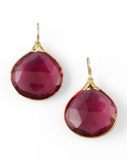 Devon Leigh Fuchsia Quartz Drop Earrings