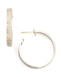 Konstantino Classic Diamond Pave Hoop Earrings