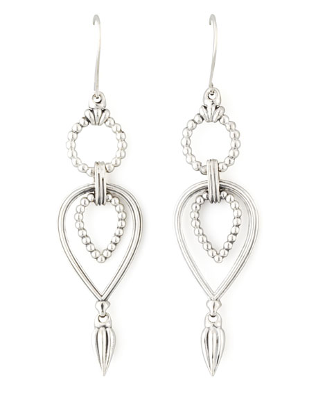 Sterling Silver Caviar Twist Earrings