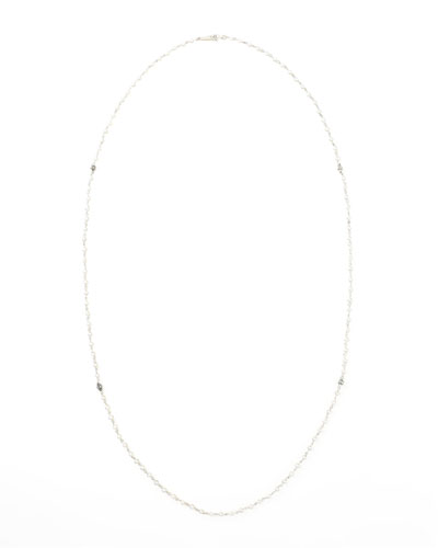 Luna Long Pearl Necklace, 35""