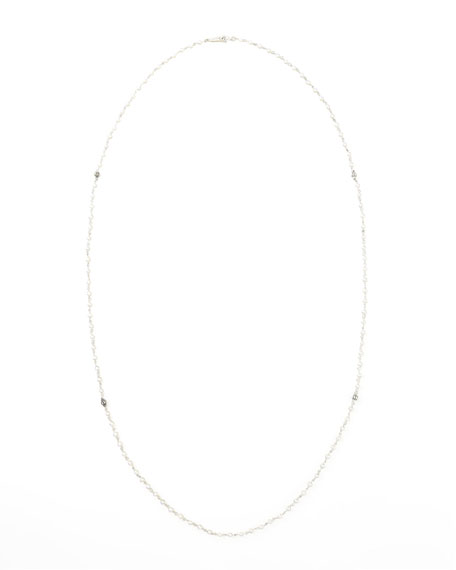 "Luna Long Pearl Necklace, 35"""