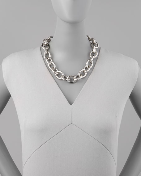 Silvertone Cable Necklace