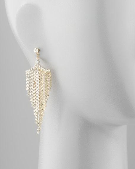 Golden Rhinestone Chandelier Earrings