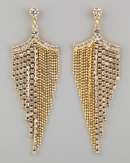 A.V. Max Golden Rhinestone Chandelier Earrings