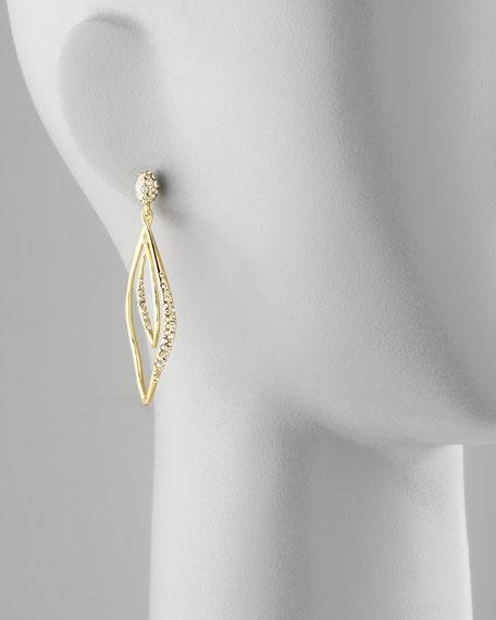 Miss Havisham Linear Pave Orbiting Post Earrings