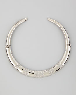 Rebecca Minkoff Domed Pave Choker Necklace