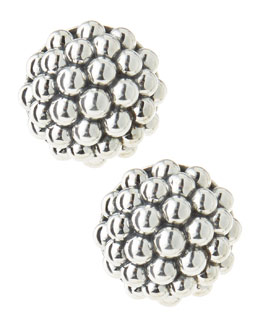 Lagos Bold Caviar Sterling Silver Omega Earrings