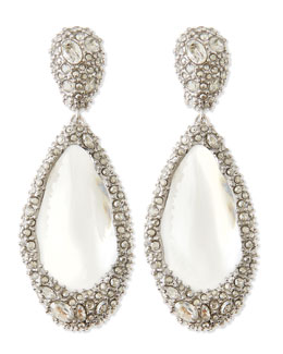 Alexis Bittar Medium Crystal-Encrusted Clear Lucite Clip Earrings