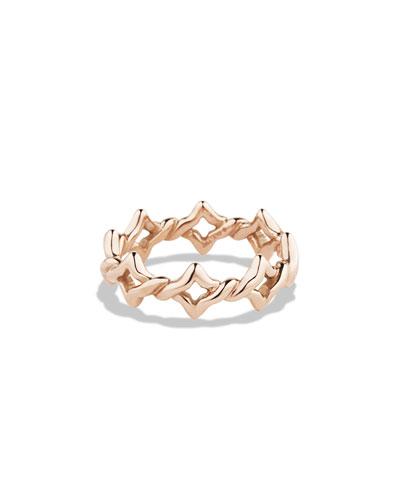 DAVID YURMAN Quatrefoil Stacking Ring in Rose Gold