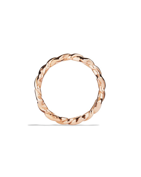 Quatrefoil Stacking Ring in Rose Gold