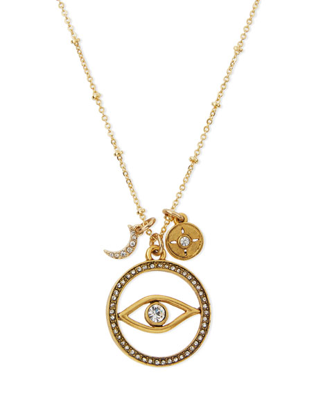 "Evil Eye Talisman Pendant Necklace, 16"""