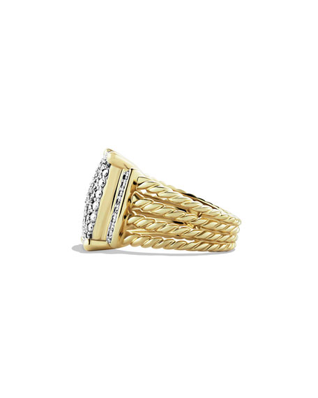 Wheaton Pavé Diamond Ring in 18K Gold, Size 7