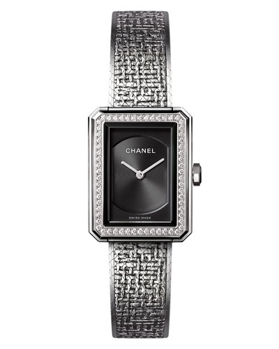 BOY·FRIEND Tweed Watch with Diamonds