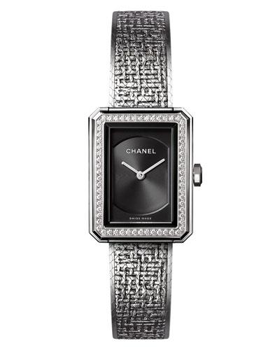 BOY·FRIEND Tweed Watch with Diamonds