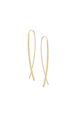 Lana Gloss Flawless 14K Gold Upside Down Hoop Earrings with Diamonds