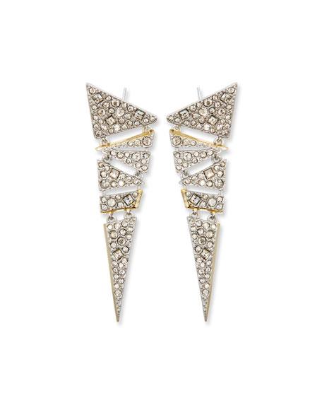 Hinged Crystal Mosaic Lace Drop Earrings
