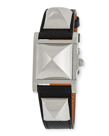 Médor, Stainless Steel & Leather Strap