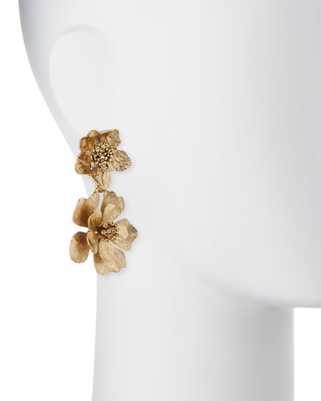 Bold Flower Drop Earrings