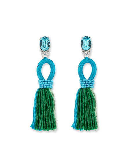 Oscar de la Renta Short Gradient Looped Tassel