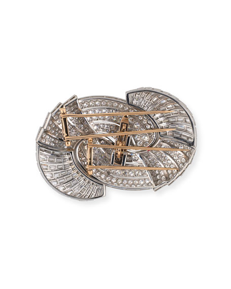 NM Estate Estate Retro Large Diamond Swirl Brooch