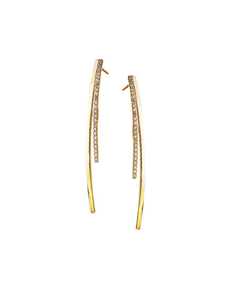 Small Electric Diamond Bar Earrings