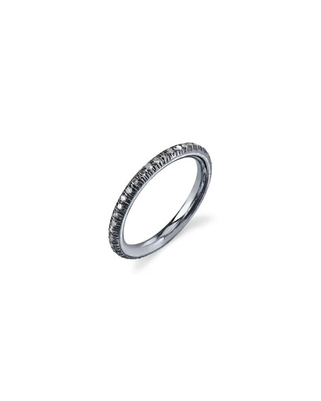 Pave Diamond Stacking Band Ring, Size 8.5