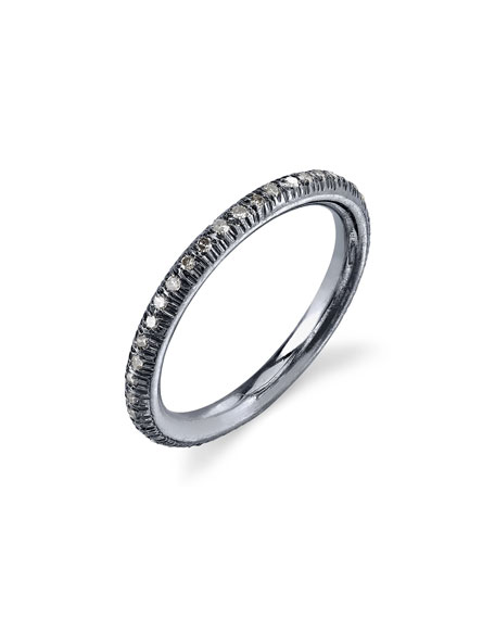 Pavé Diamond Donut Stacking Band Ring, Size 8