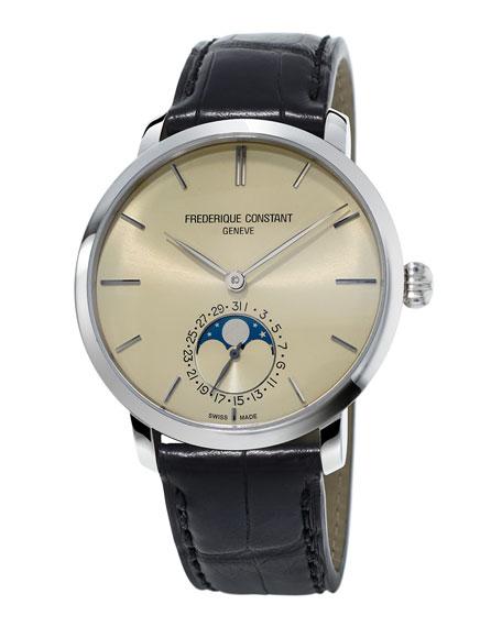 Frederique Constant 42mm Slimline Moonphase Manufacture Watch