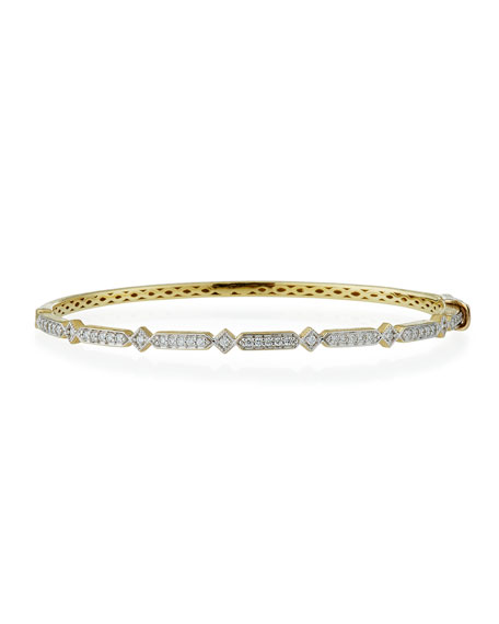 Lisse 18k Gold Diamond Bangle Bracelet