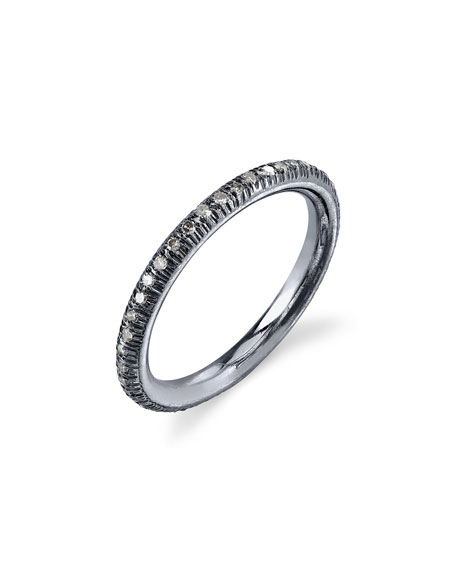 Pavé Diamond Donut Stacking Band Ring, Size 7.5