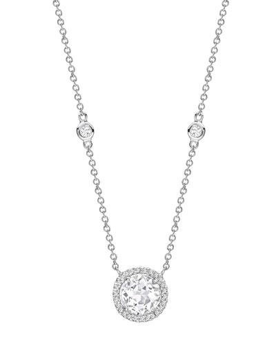 Grace White Topaz & Diamond Necklace
