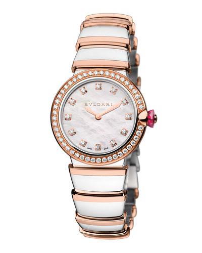 LVCEA 28mm Two-Tone Diamond Watch
